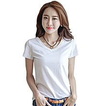 48150294604659 Women Summer Short Sleeve T-Shirt Casual Comfortable Cotton Ladies Shirt  Tops