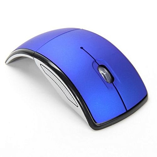 Optical 2.4G Foldable Wireless Mouse USB Folding Receiver Ergonomic Mice blue