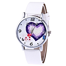 Christmas Casual Lovers'  Leather Stainless Steel  Quartz Analog Wrist Watches
