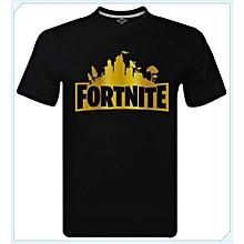 Fortnite Gold Cool Logo Battle Royale Xbox Gaming Gamer T-Shirt Men Tee Tops