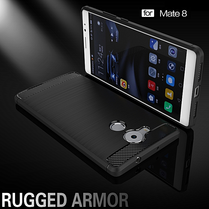 RUILEAN Rugged Armor Case For Huawei Mate 8 Carbon Fiber Resilient Drop Protection .