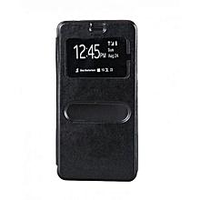 L9 Plus Double Window Flip Cover - Black