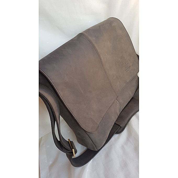 3fb2a435a51a Generic Dark Brown Leather Bag ( laptop bag genuine leather)   Best ...