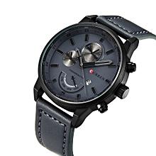b3d3b6dddd63 Fashion Quartz Men Watch PU Leather W  Calendar 3ATM Water-resistant Man  Casual Wristwatch