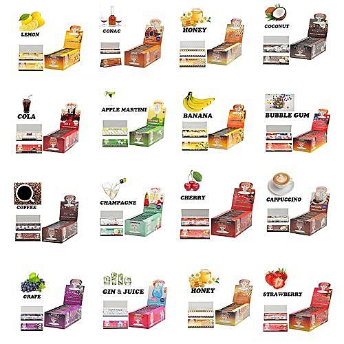 1booklet 50pcs Tools Hemp Gum Furit Flavor Cigarette Smoking Rolling Paper
