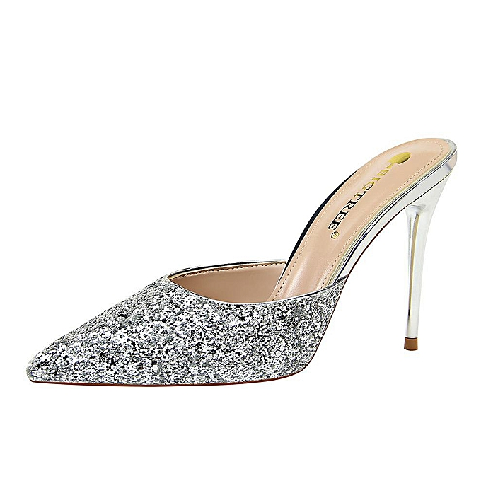 83a5f4cf612 Sequin High Heels Sandals Women High-Heeled Shoes Pointed Toe Woman Pumps  Stiletto Party Women Shoes Slingback Ladies Shoes