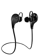 QY7 Bluetooth 4.1 Wireless Sports In-ear Stereo Headphone WithSweatproof Earbuds - Black