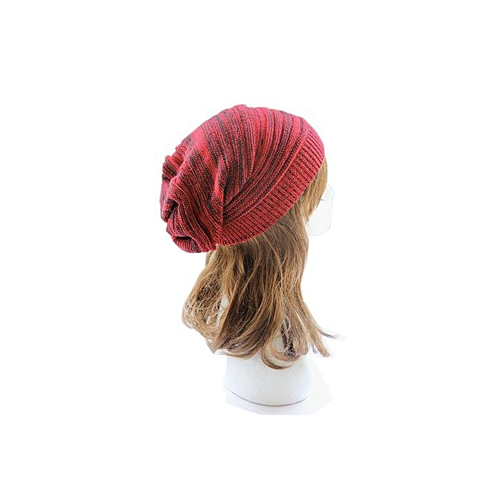 Zetenis Unisex Knit Baggy Beanie Beret Winter Warm Oversized Ski Cap Hat  Red -Red afb740d7c1f