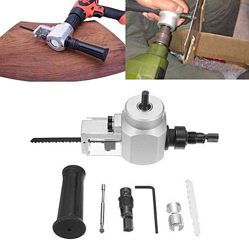 Generic Double Head Sheet Metal Nibbler Cutter Cutting Saw Tool Power Drill Attachment