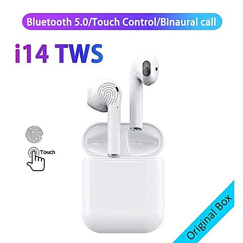 i10 tws Bluetooth i7s tws Earphone i9s Wireless earphone i11 tws Earbuds  i13 i14 i15 headset with charge box for all smart phone(#i14)