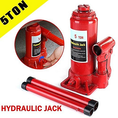 5 Ton Car Hydraulic Jack Bottle Engine Lift Lifting Vehicle Handle Heavy  Duty Repair Tool