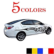 1 Pair Universal Car The Whole Body Sticker Fire Flame Decor Vinyl Decals Auto Truck