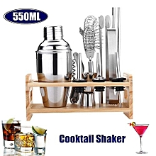 12pc Stainless Steel Cocktail Shaker Mixer Drink Bartender Martini Tools Bar Set