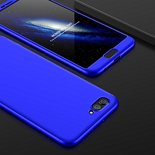 detailed pictures b43d0 534d1 For Huawei Honor V10 Case 360 Degree Full Protection 3 In 1 Hard PC Back  Cover For Huawei Honor V10 Honorv10 Phone Cases (Blue)