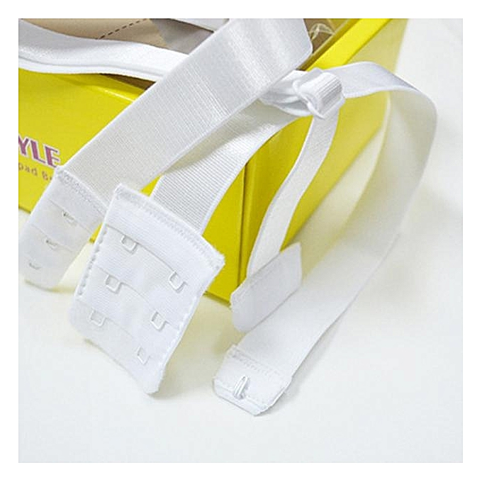 d60b8e90d2ad7 Low Back Backless Bra Strap Adapter Converter Fully Adjustable Extender WH-  White