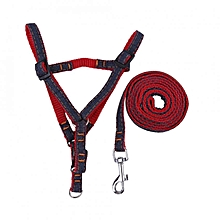 Adjustable Pet Puppy Dog Harness Set Cat Walking Strap Vest & Lead Leash (Red M)