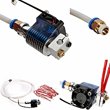 3D Printer V6 J-head Hotend with Cooling Fan for 1.75mm/3.0mm Bowder Extruder 0.4mm