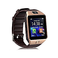 W90 Touch Screen Smart Watch Phone with Camera - Gold Brown