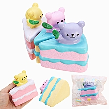 Oriker Squishy Bear Cake 9.5cm Soft Sweet Slow Rising 12s  Packaging Colleciton Gift Decor -Yellow