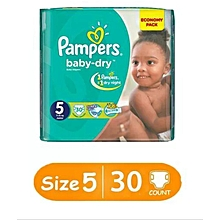 BABY DIAPERS SIZE 5(13-18kgs), 30pieces/count VALUE PACK