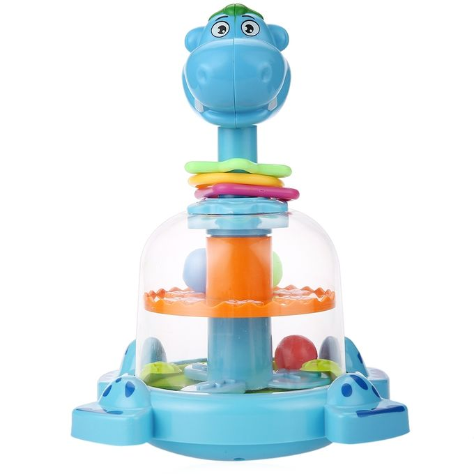 Blue Baby Toys : Hichina blue baby funny animal spinner turntable rattles