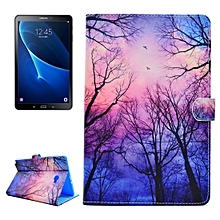 For Galaxy Tab A 10.1 (2016) / T580 / T585 Star Sky Tree Pattern Horizontal Flip Leather Case with Holder & Card Slots & Wallet