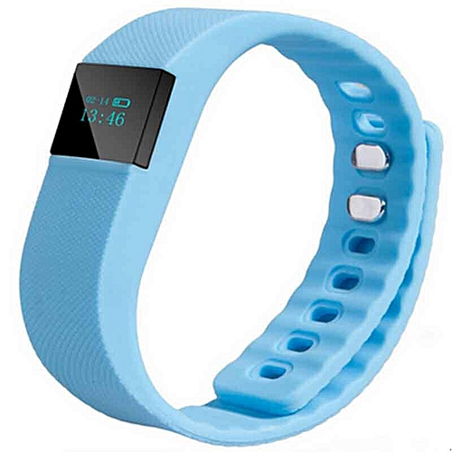 Smart Band Fitness Tracker Bluetooth 4.0 Wristband Smart Pedometer Bracelet For IPhonefor Samsung  (Color:Blue)