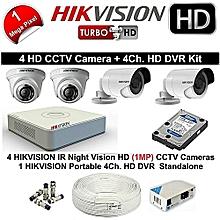 4 Channel DVRds-7108hghi-f1 Turbo HD DVR Kit