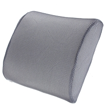 Memory Foam Lumbar Back Support Cushion Pillow for Office Home Car Seat Chair (Grey)