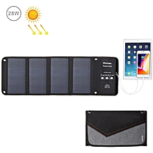 28W Foldable Solar Panel Charger with Dual USB Ports