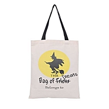 bluerdream-Halloween Candy Bag Gift Bag Canvas Tote Casual Beach Bags Shopping Bag Handbag-As Shown