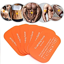 6 Pcs Abdominal Exerciser Body Muscle Training Fitness Gear Fitpad Gel Pad TP Orange