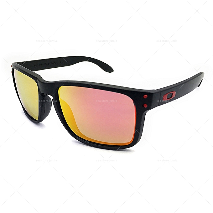 a6659fcd6f0 Oakley Holbrook Polarized Sunglasses OO0709 - black  red   Best ...