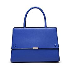 Blue Structured Handbag