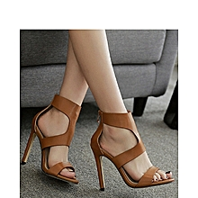 High Quality  Fashion Store Brown Heeled Sandals