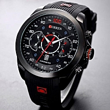 CURREN Luxury Brand Military Sports Watches Rubber Fashion Quartz Men Casual Watch Calendar Date Work 30M Waterproof Wristwatch