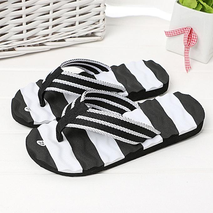 b48a1ce5a47 birthpar store Men Summer Sandals Slipper Indoor Outdoor Flip-flops Beach  Shoes Black-Black