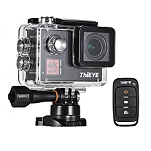 LEBAIQI ThiEYE T5 Edge 4K WiFi Action Sports Camera 14MP 1080P Voice Remote Control 6-axis EIS Stabilization 2.0inch IPS Distortion Correction 60m Waterproof Support Time-Lapse Fast/Slow Motion