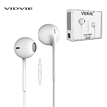 HS604 HEARING Earphones - With Remote and Mic- White