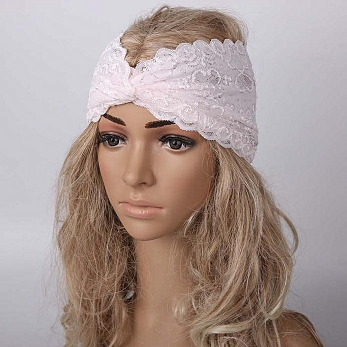 Fashion Women Headwear Twist Sport Yoga Lace Headband Turban Headscarf Wrap  BG 61be964a0d3