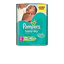 Disposable Diapers Jumbo Pack Size:2 (0 -36 Months) - 80 Diapers