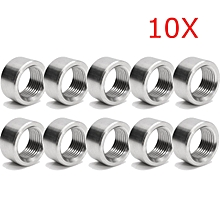 10Pcs NEW 304 Stainless Steel Exhaust Pipe Base O2 Oxygen Sensor Nut M18 x 1.5mm