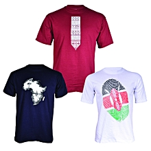 Authentic African T-shirt Bundle (3-in-1) - Multicolour..