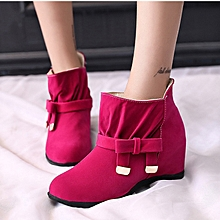 Classy Wedge Boots - Pink
