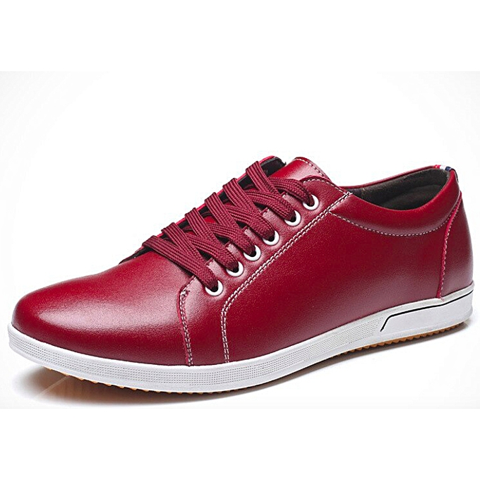 0bd587cb1 Fashion Men Sneakers Lace Up Flats Maroon @ Best Price Online ...
