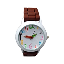 Fashion Quartz Unisex Boys And Girl's Beautiful Students All-Match Watch-Brown