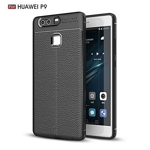 super popular aeba7 932fb Huawei P9 Silicone Case, Litchi Pattern TPU Anti-knock Phone Back Cover For  Huawei P9 - Black.