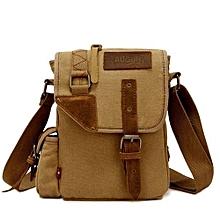 AUGUR Men's Canvas Casual Bag Single Shoulder Messenger Bags Korean Style Business Pouch Bags(Khaki)