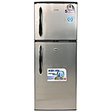 BRD-140 - Double Door Refrigerator - 6.5Cu.Ft - 120 Litres - Silver.