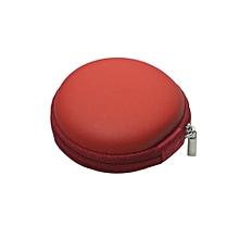 New Fashion Earphone EVA Ha Case Earphone Box For iPhone Earphone -Red